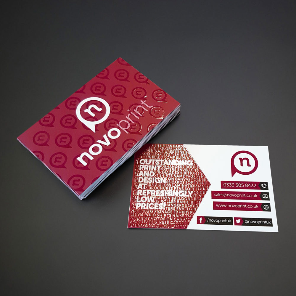 Get Affordable Spot UV Business Cards online at NovoPrint