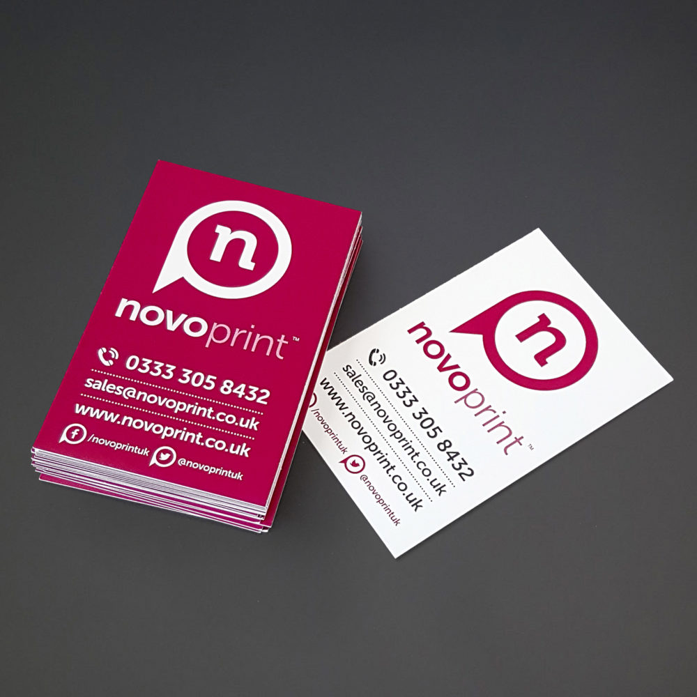 Uncoated Business Cards (100% RECYCLED) - Novo Print