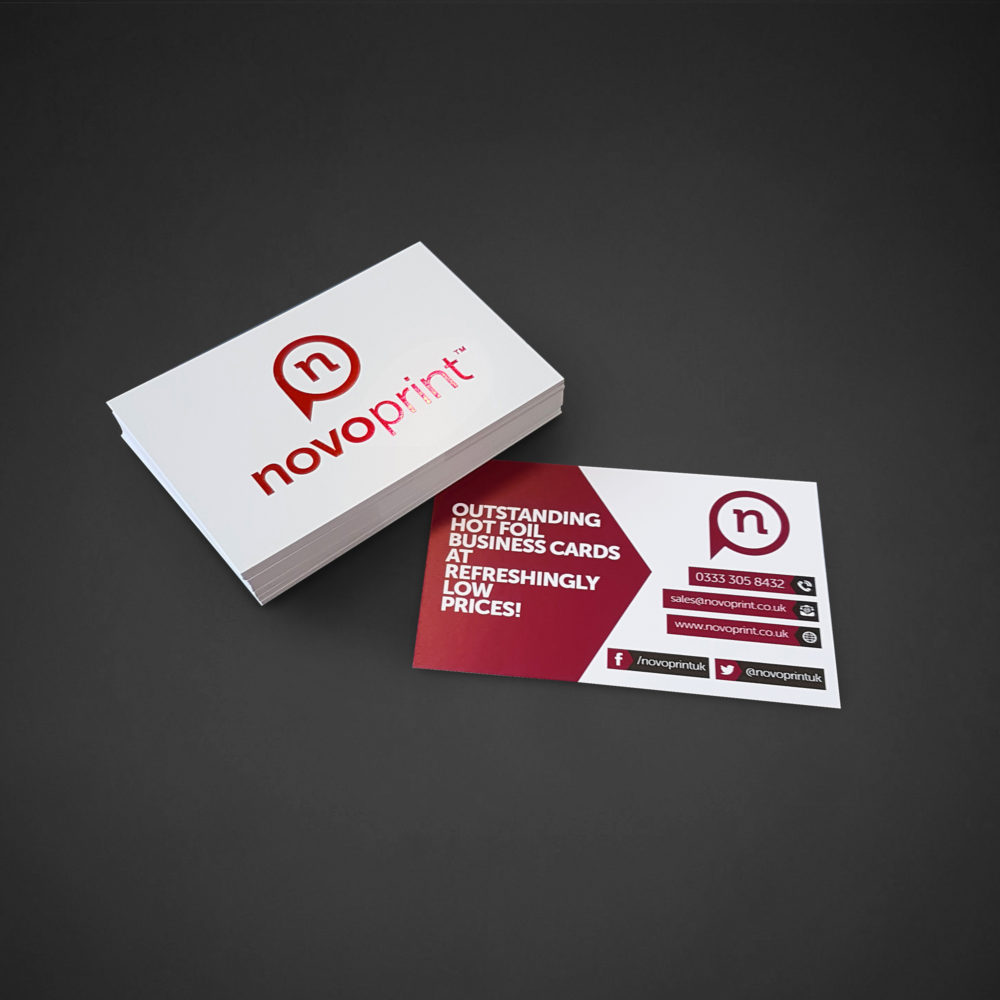 Hot foil business cards novo print hot foil business cards reheart Image collections